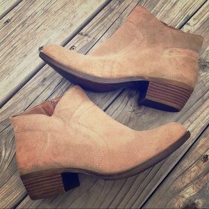 SOLD Lucky Brand Brolley suede ankle booties